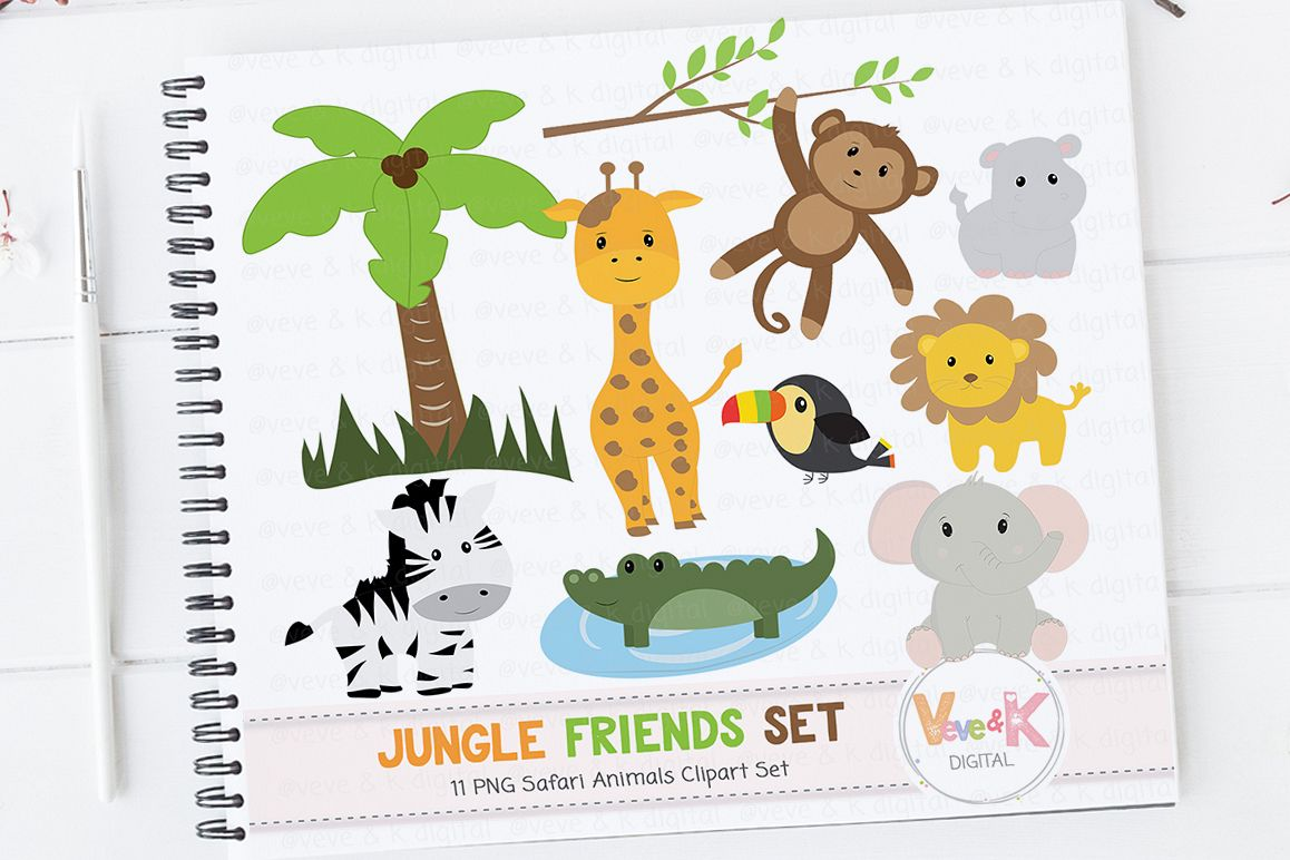 Clipart animals report. Safari jungle clip art