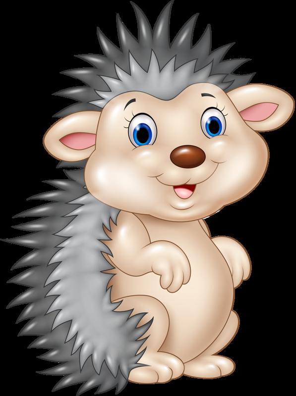 Funny cartoon animals vector. Clipart sleeping hedgehog