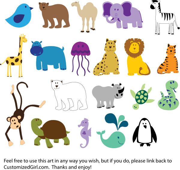 Kids clipart animal. Free png hd zoo