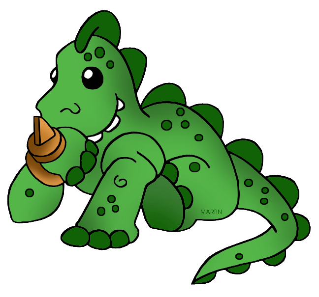 Animals clip art by. Clipart dinosaur number