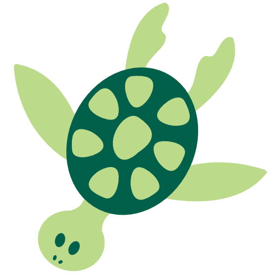Colorful animal sea panda. Clipart turtle tutle