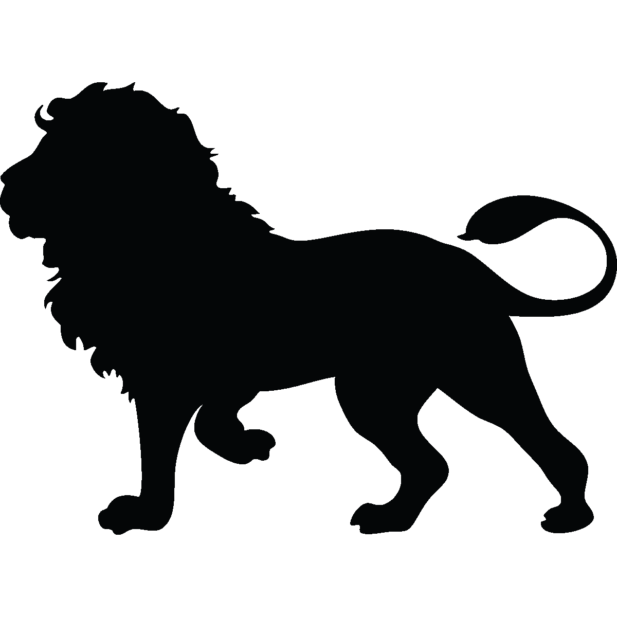 Sticker lion majestueux pinterest. Silhouette clipart monkey