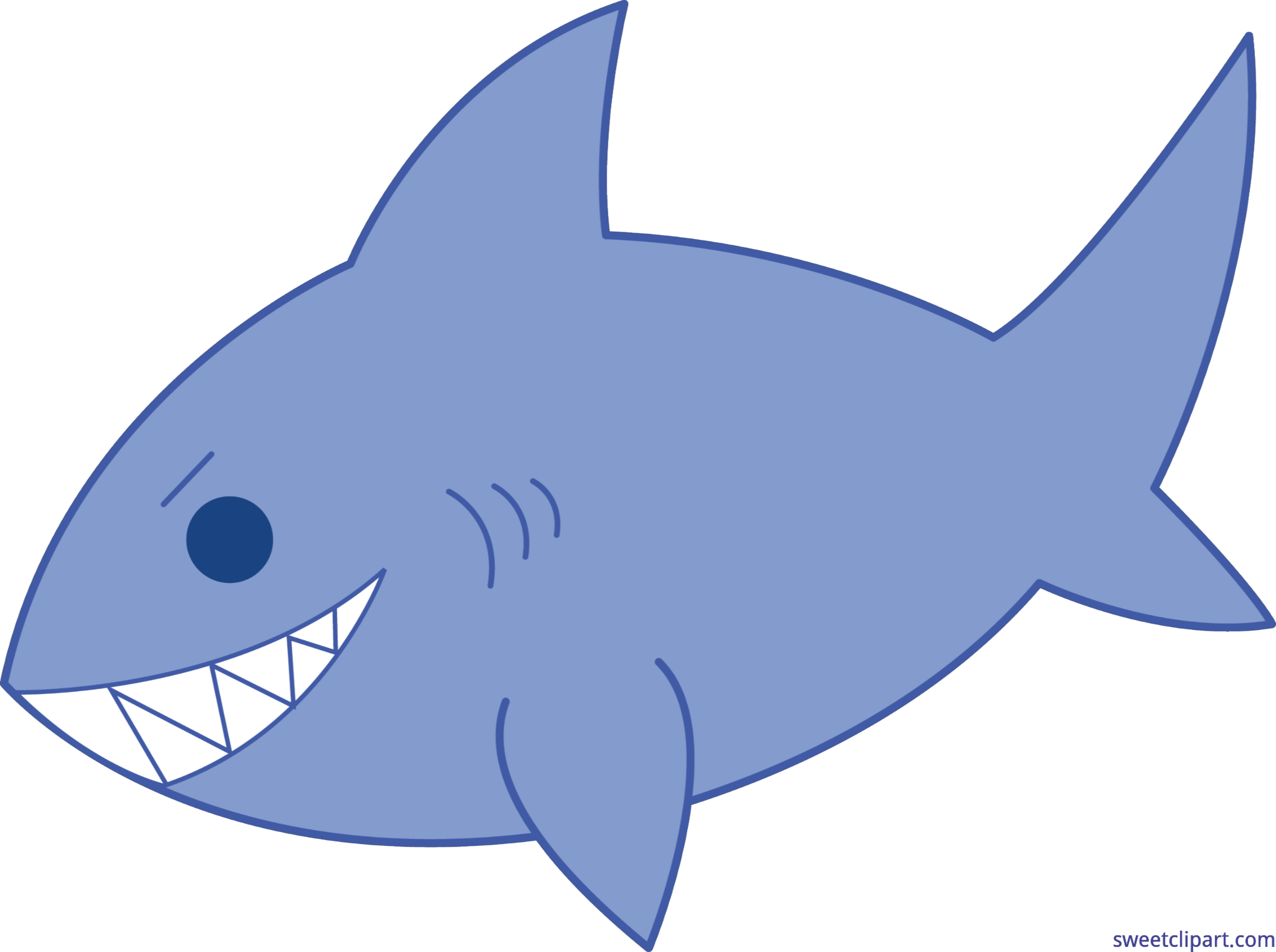 Blue clip art sweet. Clipart fish shark