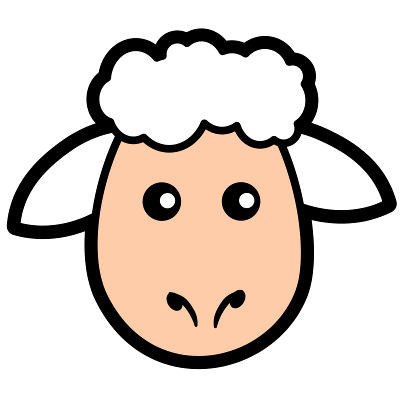 Free sheep icon animals. Lamb clipart scared