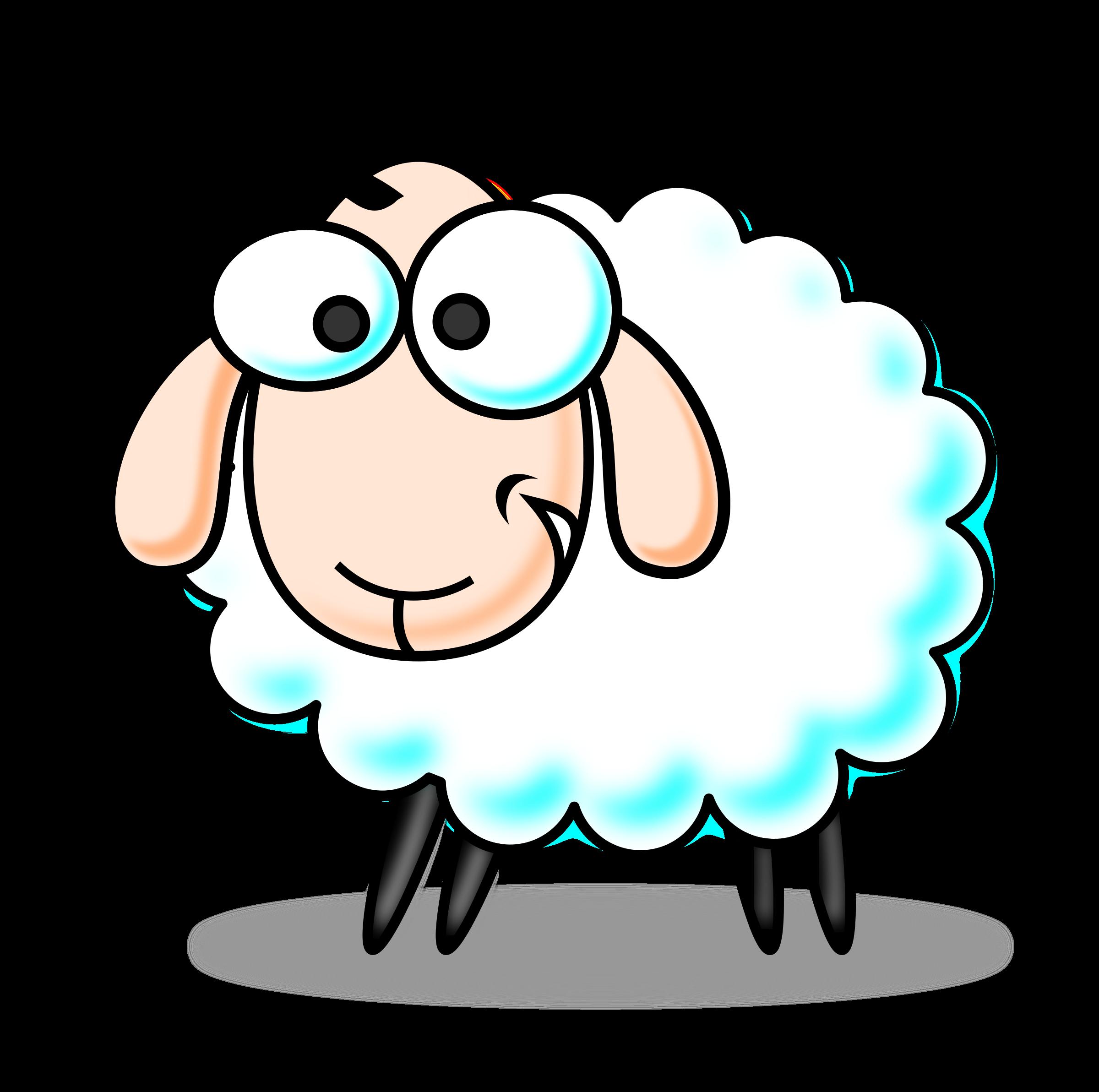 clipart sheep crazy