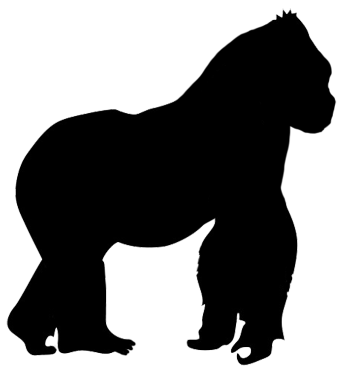 Gorilla design more. Lion clipart silhouette
