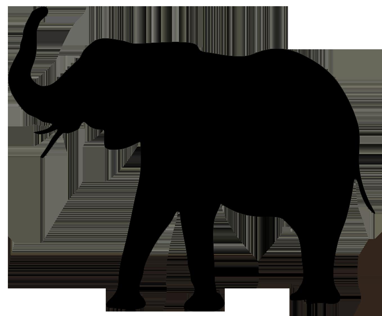 Horn clipart elephant. Animal silhouette clip art