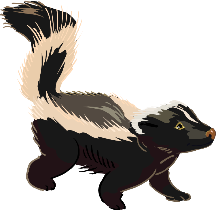 Free . Woodland clipart skunk