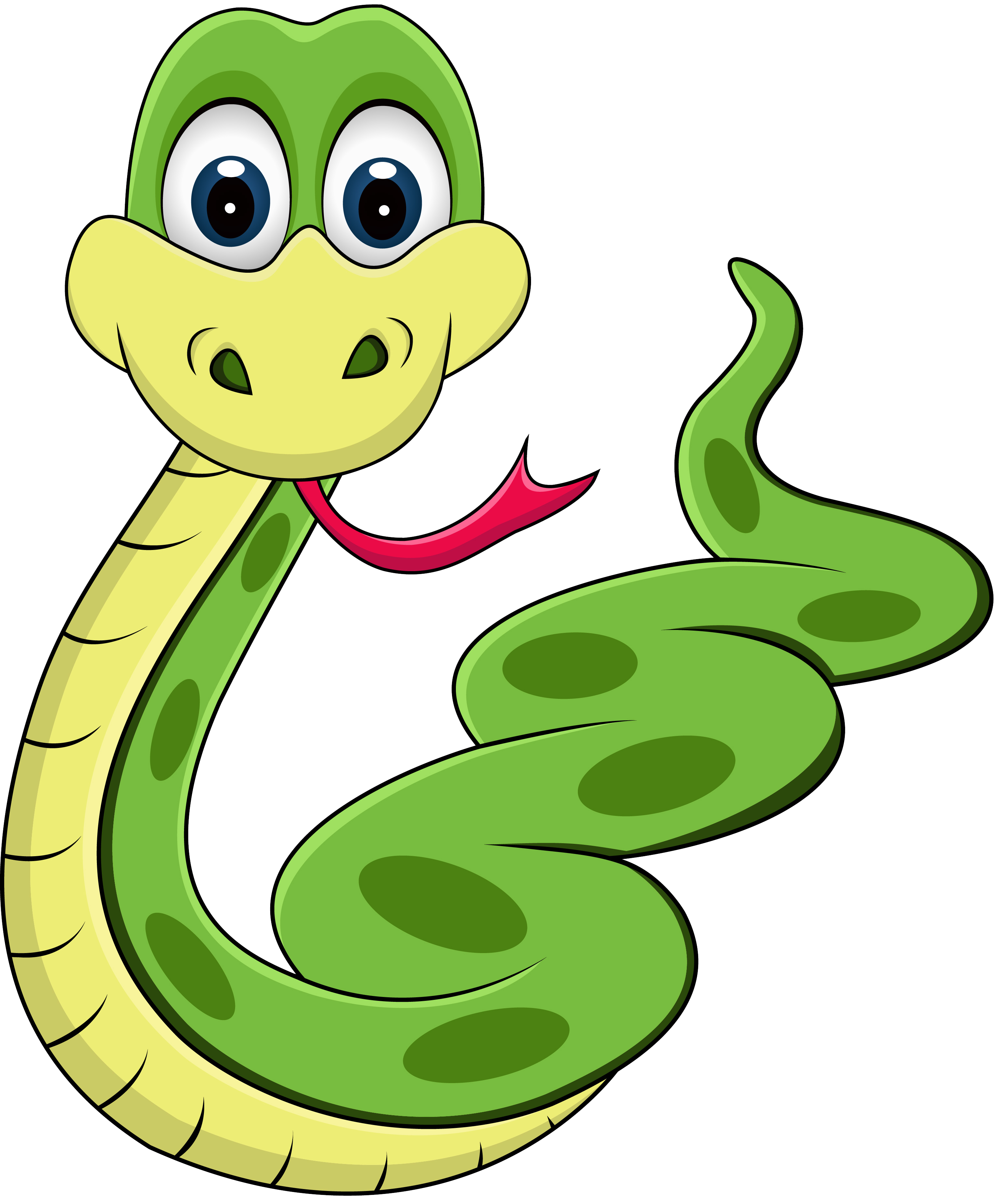 Cartoon clip art anaconda. Cute clipart snake
