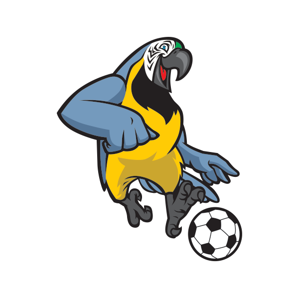 Parrot clipart colour. Printed vinyl football soccer