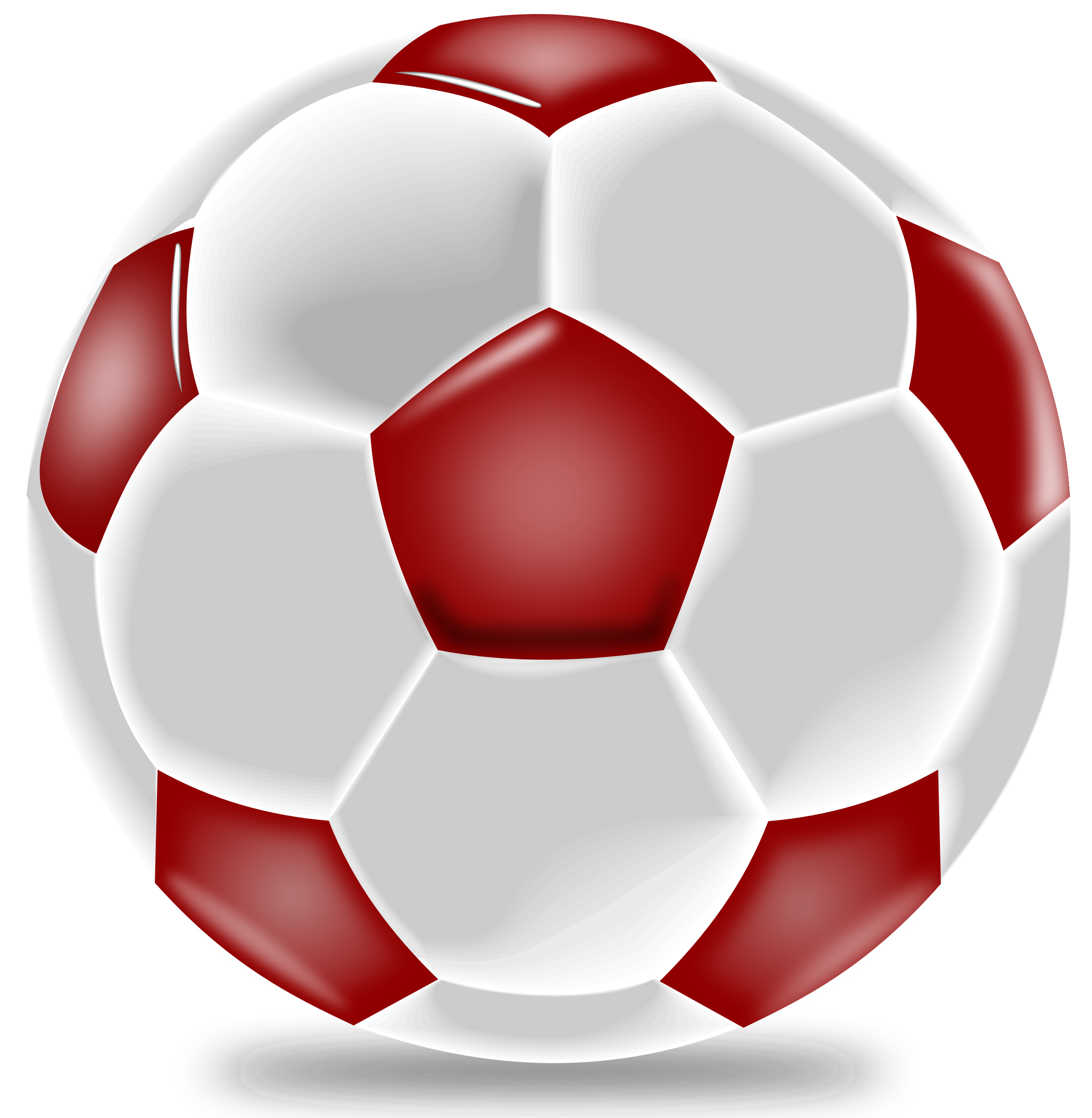 Realistic ball by ilnanny. Hearts clipart soccer