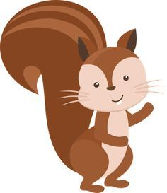 Woodland clipart squirrel. Clip art forest animals