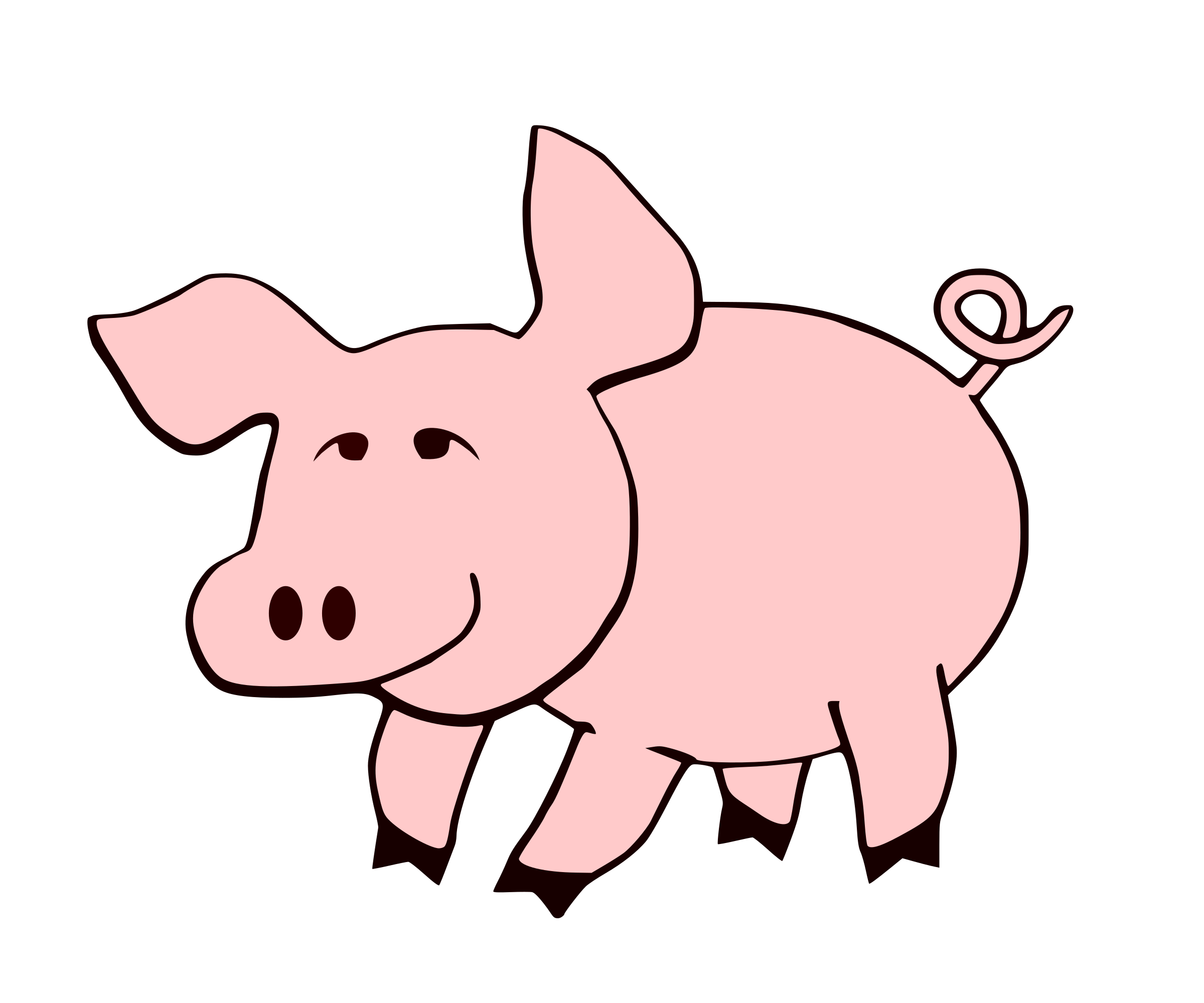 collection of tail. Pig clipart mud