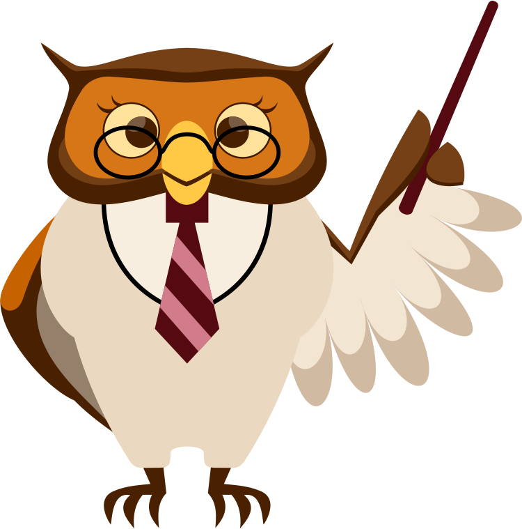 Learning photoshop with a. Clipart bird teacher