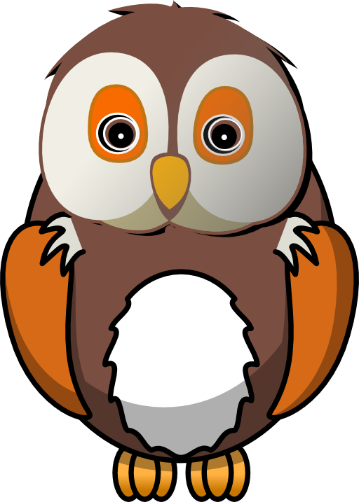 Cute wise panda free. Orange clipart owl
