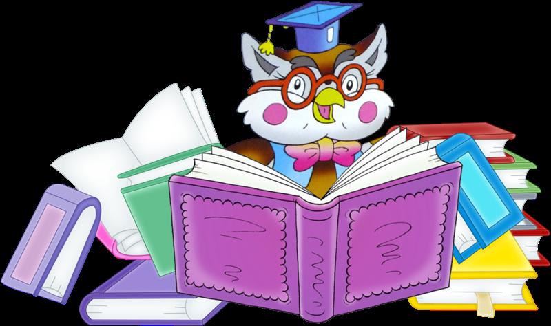 Owl cartoon image png. Clipart reading teacher