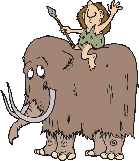 Mammoths teachers science trek. Human clipart stone age man