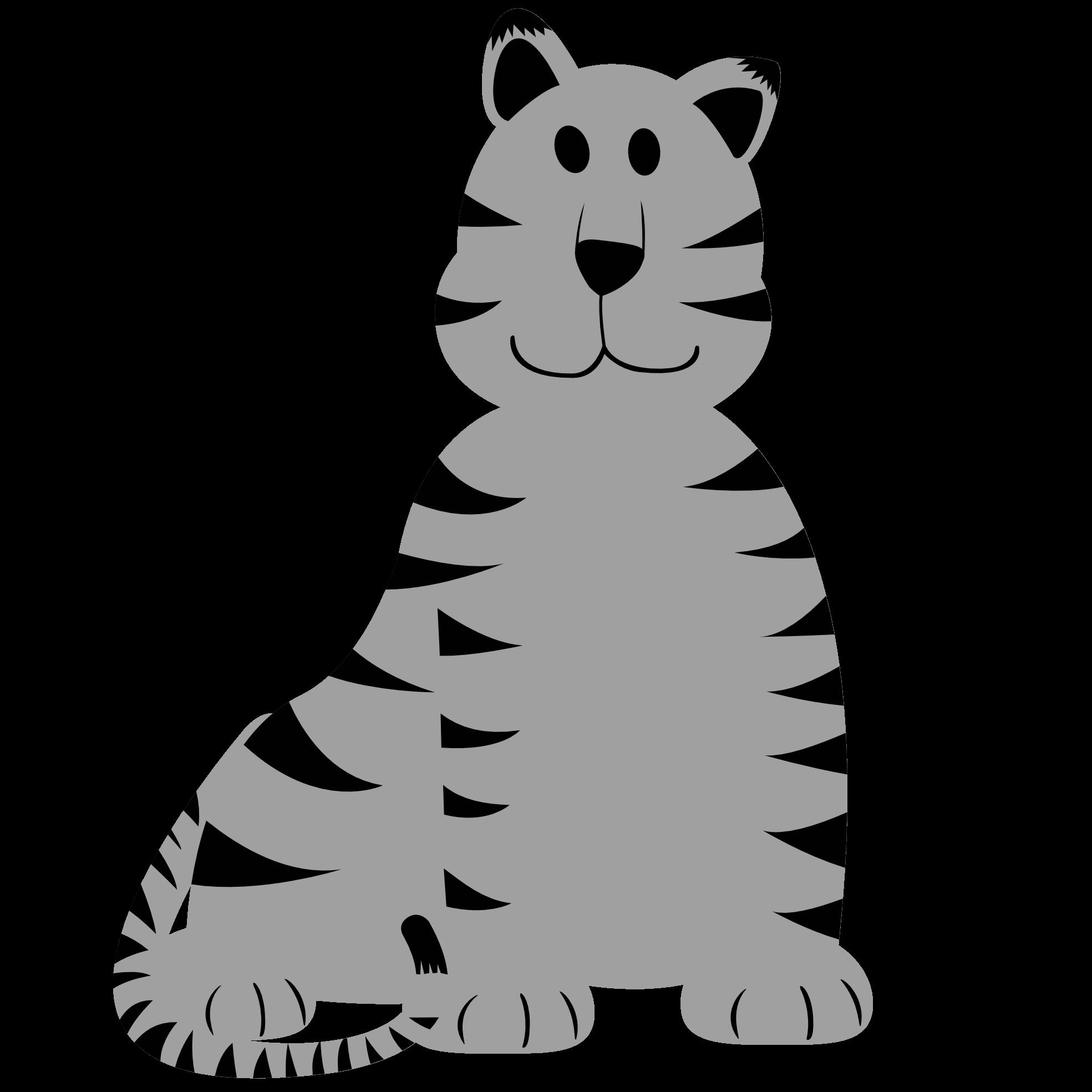 Clipart tiger tiger animal. Baby clipartblack com free