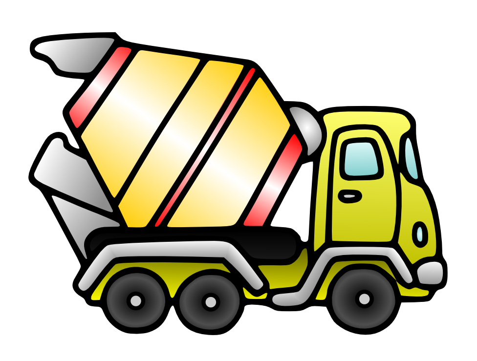 Free domain cement mixer. Clipart car painting