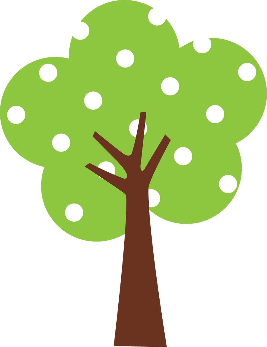Tree clipart february. Corujas minus already sectioned