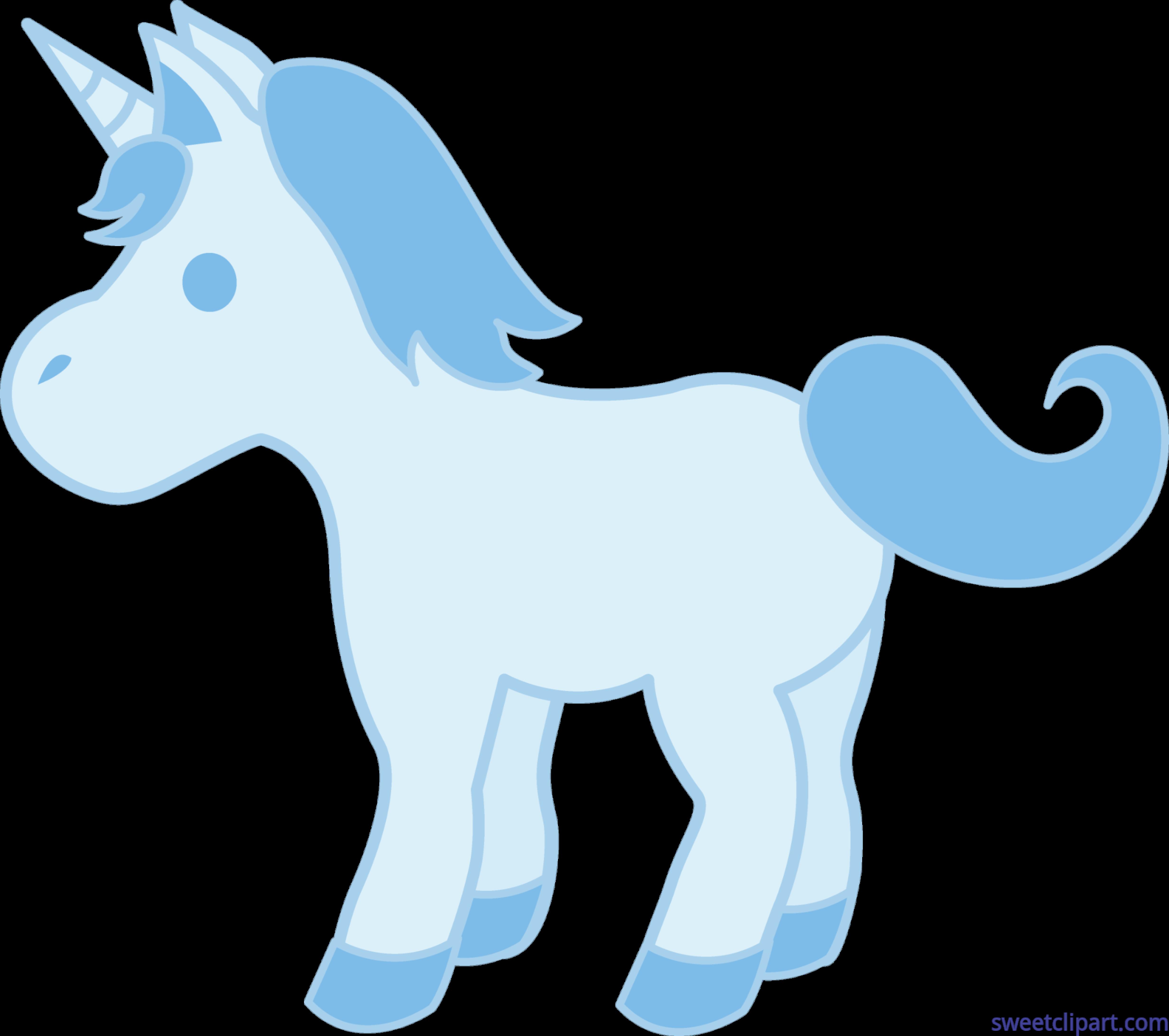 Small blue clip art. Clipart unicorn food