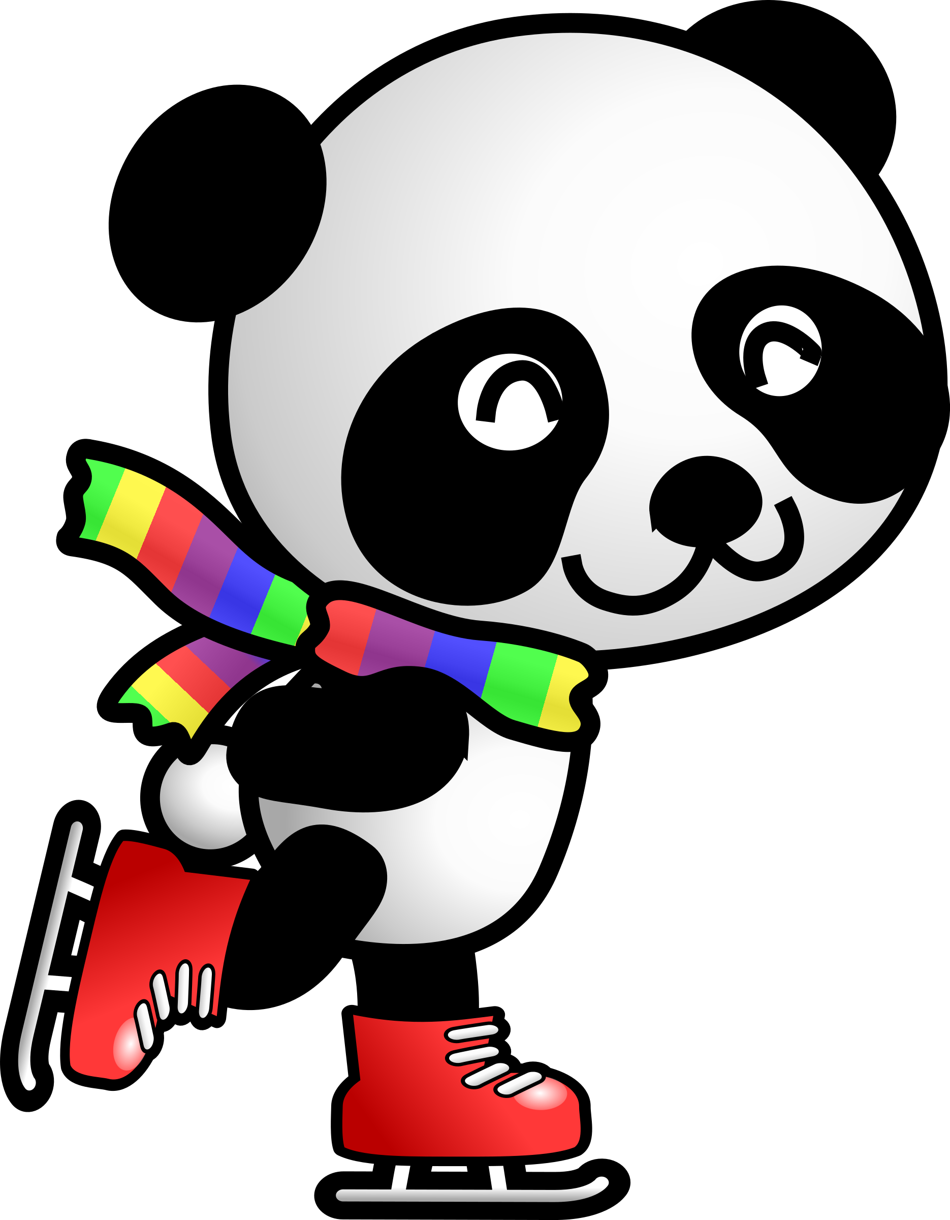 Panda clipart vector. Skating big image png