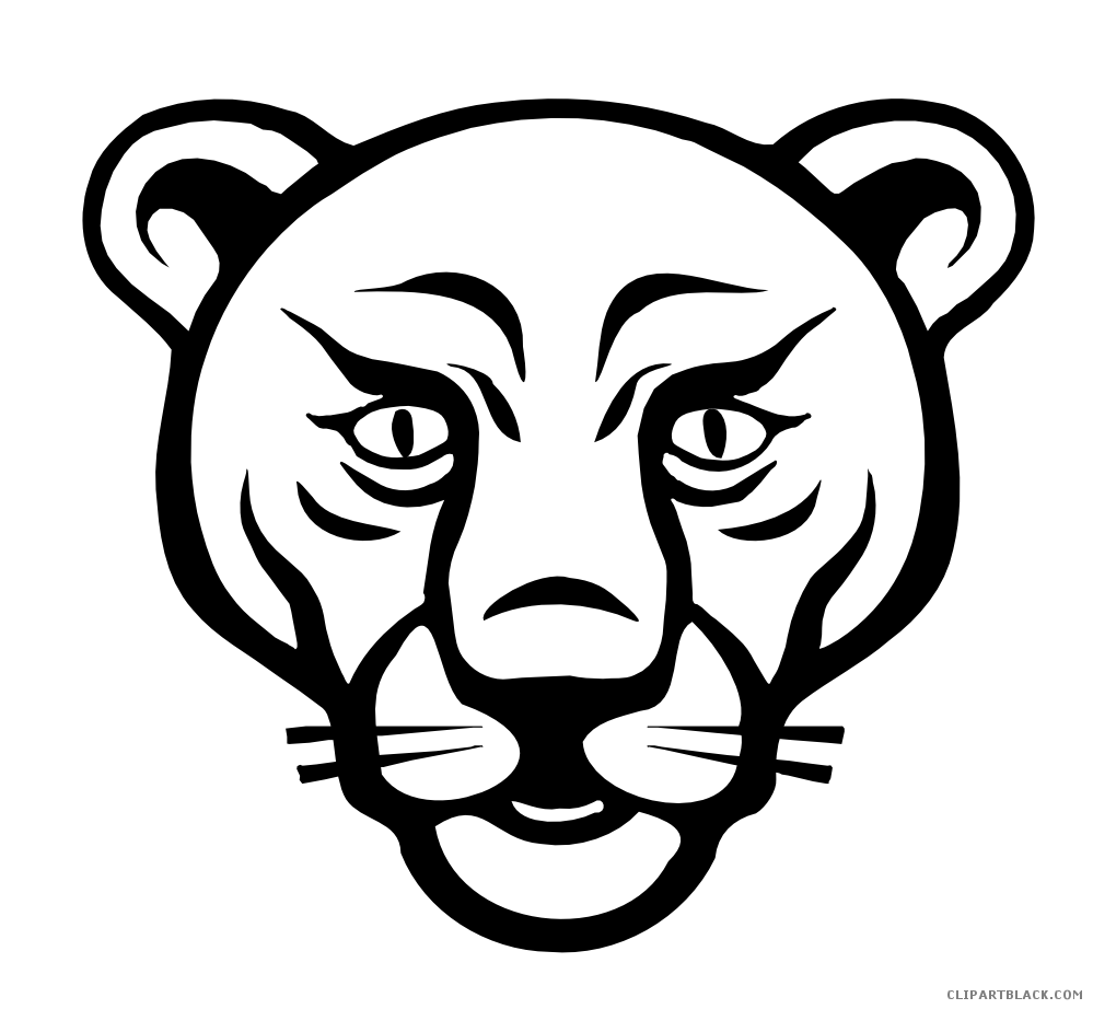 Lion animal free black. Hunting clipart face