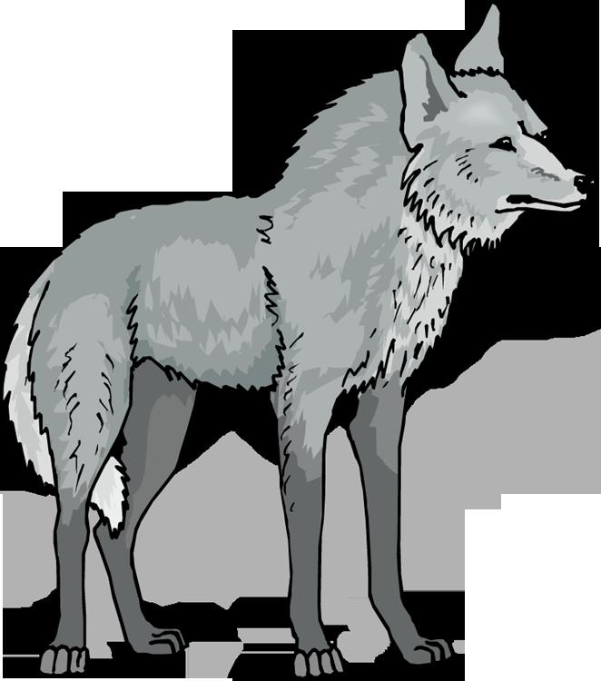 Free . Sad clipart wolf