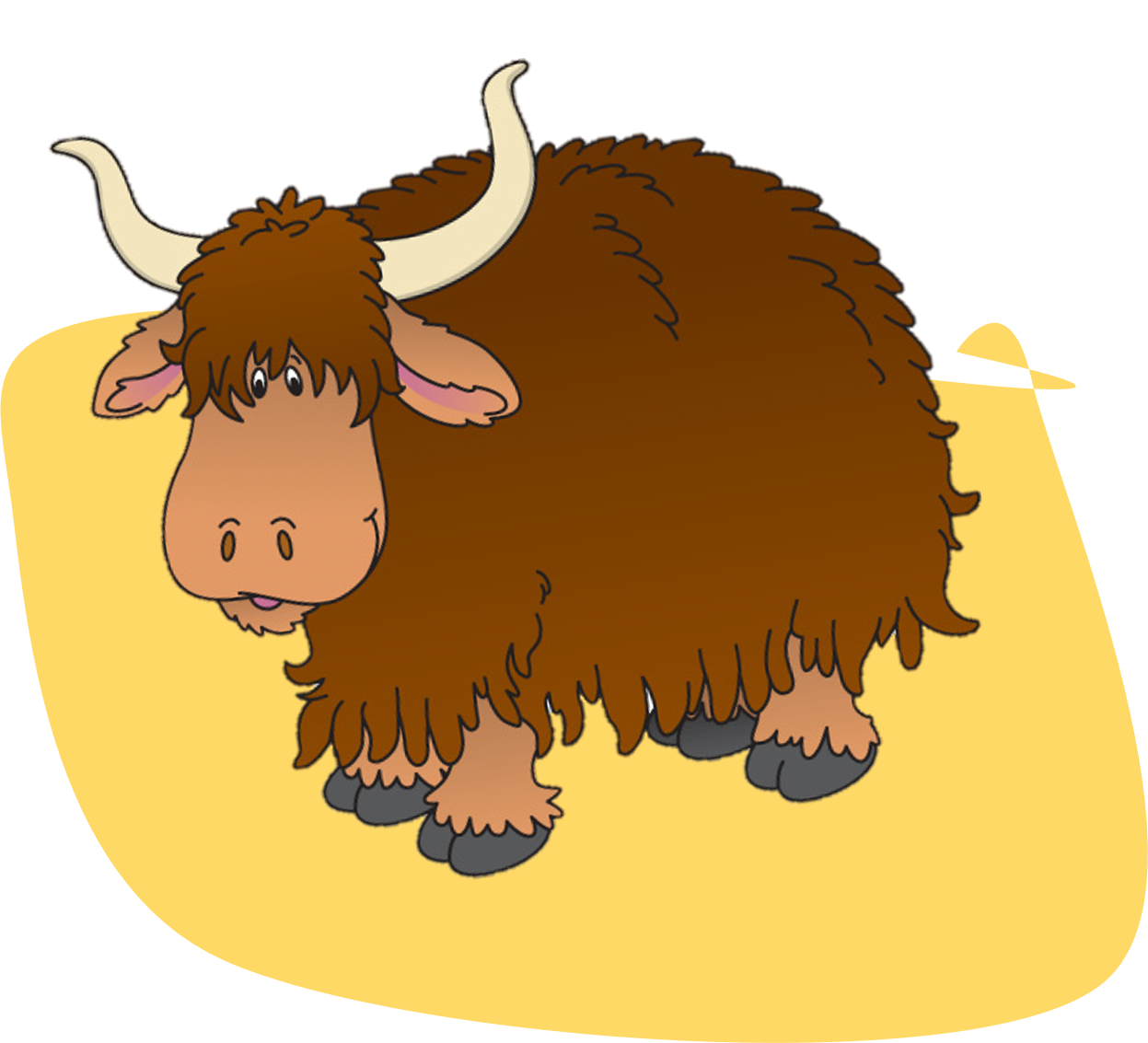 Clipart animals yak. A to z words