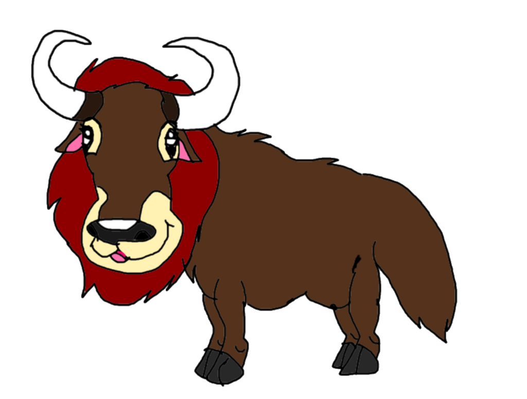 Ox clipart yak. Random maned by kallytoonsstudios
