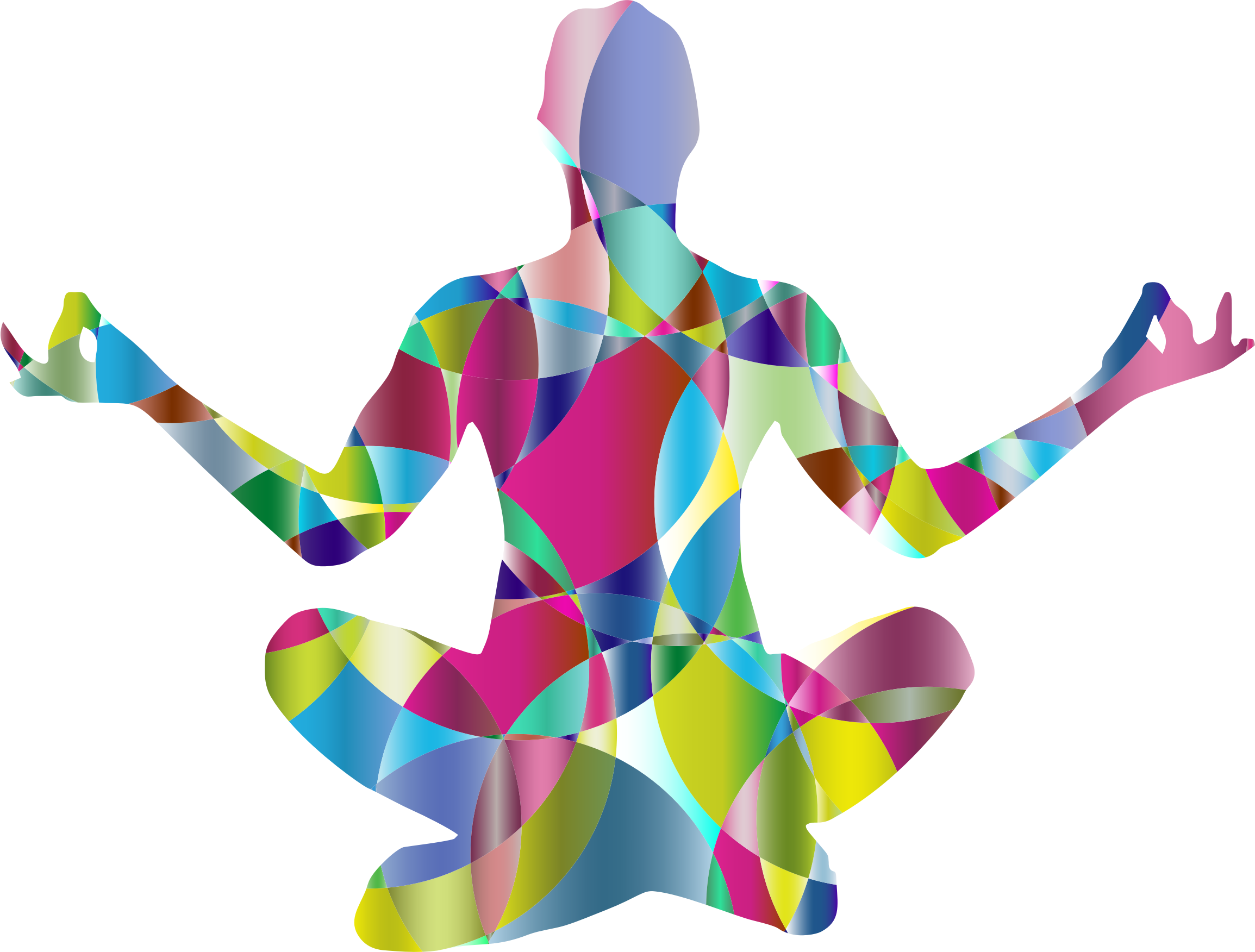 Dancer clipart abstract. Prismatic female yoga pose