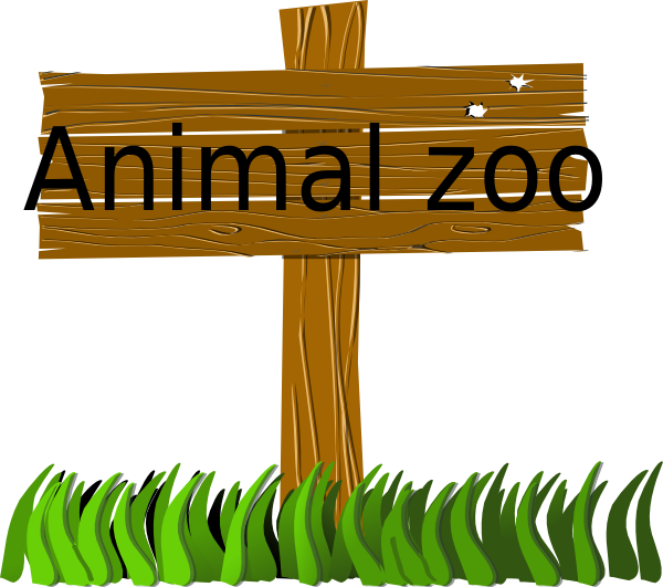 Animal zoo sign clip. Gardening clipart signage