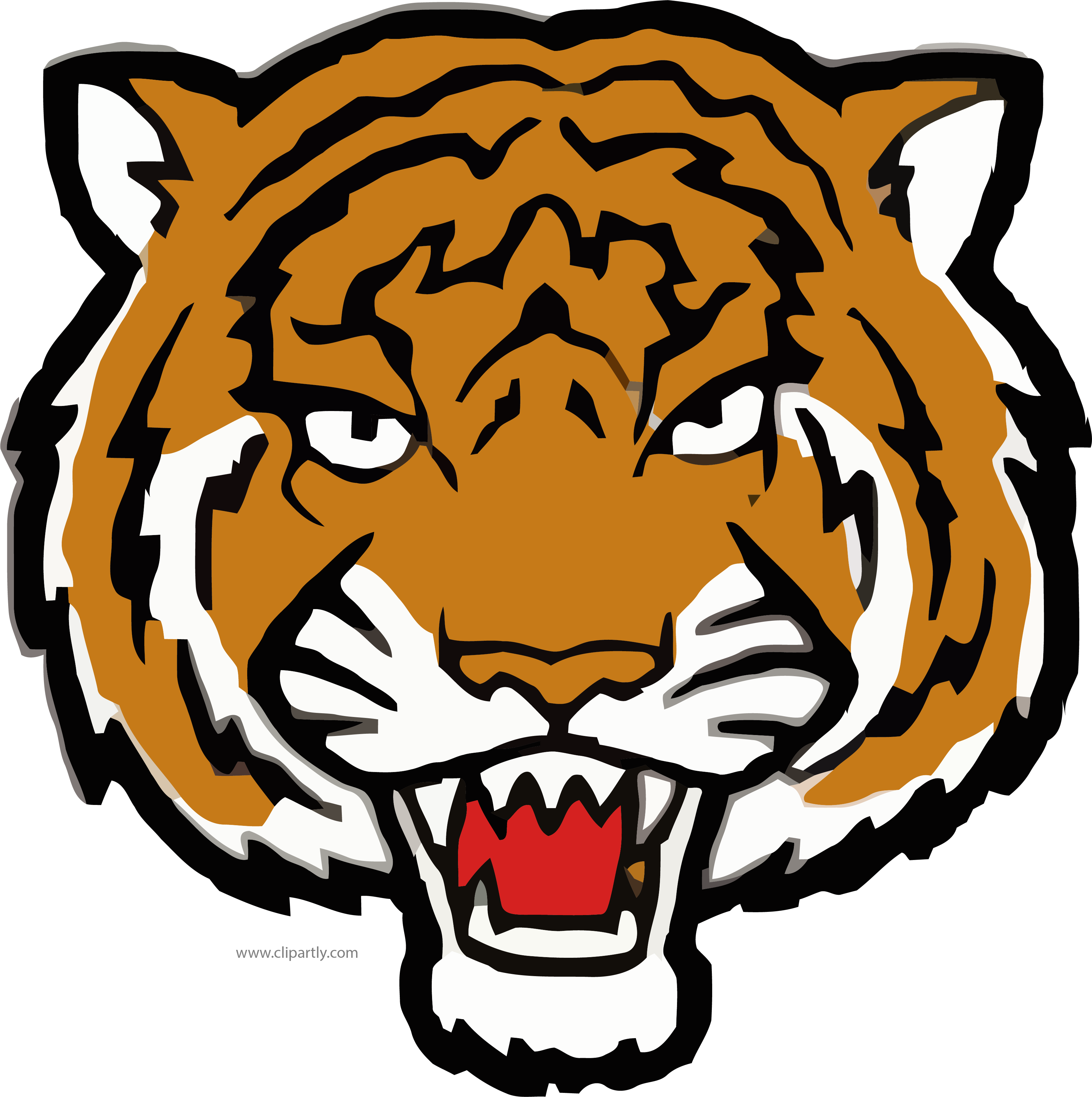 Face clipart tiger. But angry png image