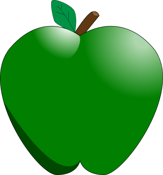 Clipart apple animated. Green clip art at