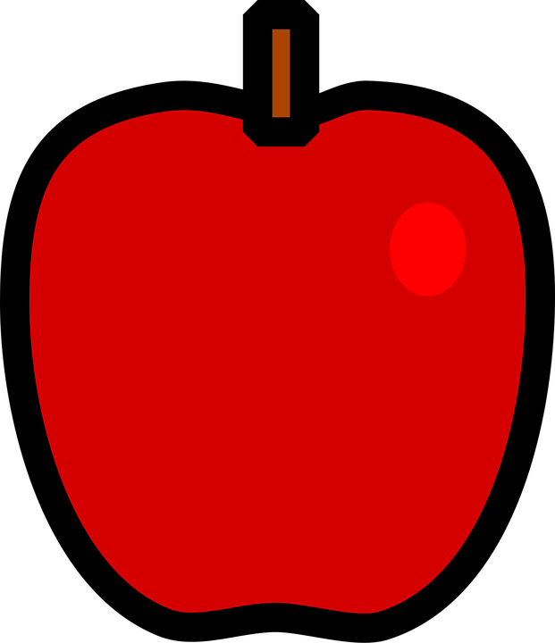 Shop of library . Clipart apple animated