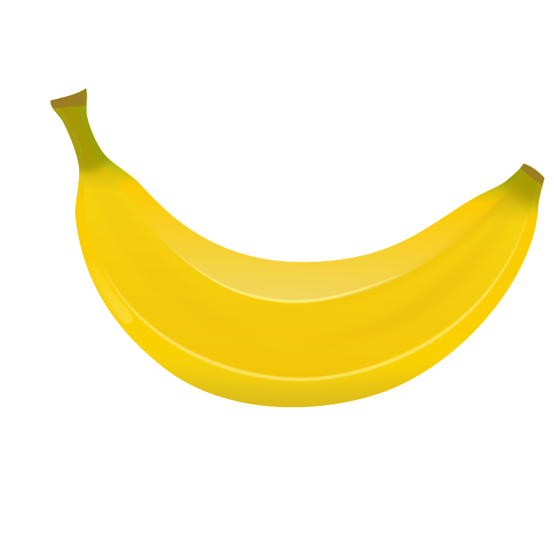 Seven isolated stock photo. Picture clipart banana