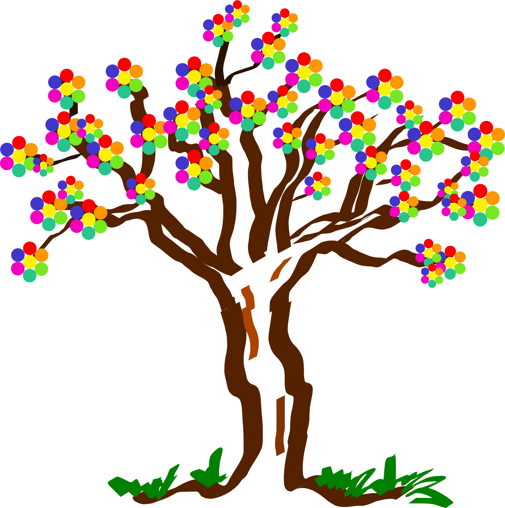Aiflowers big image png. Clipart birthday tree