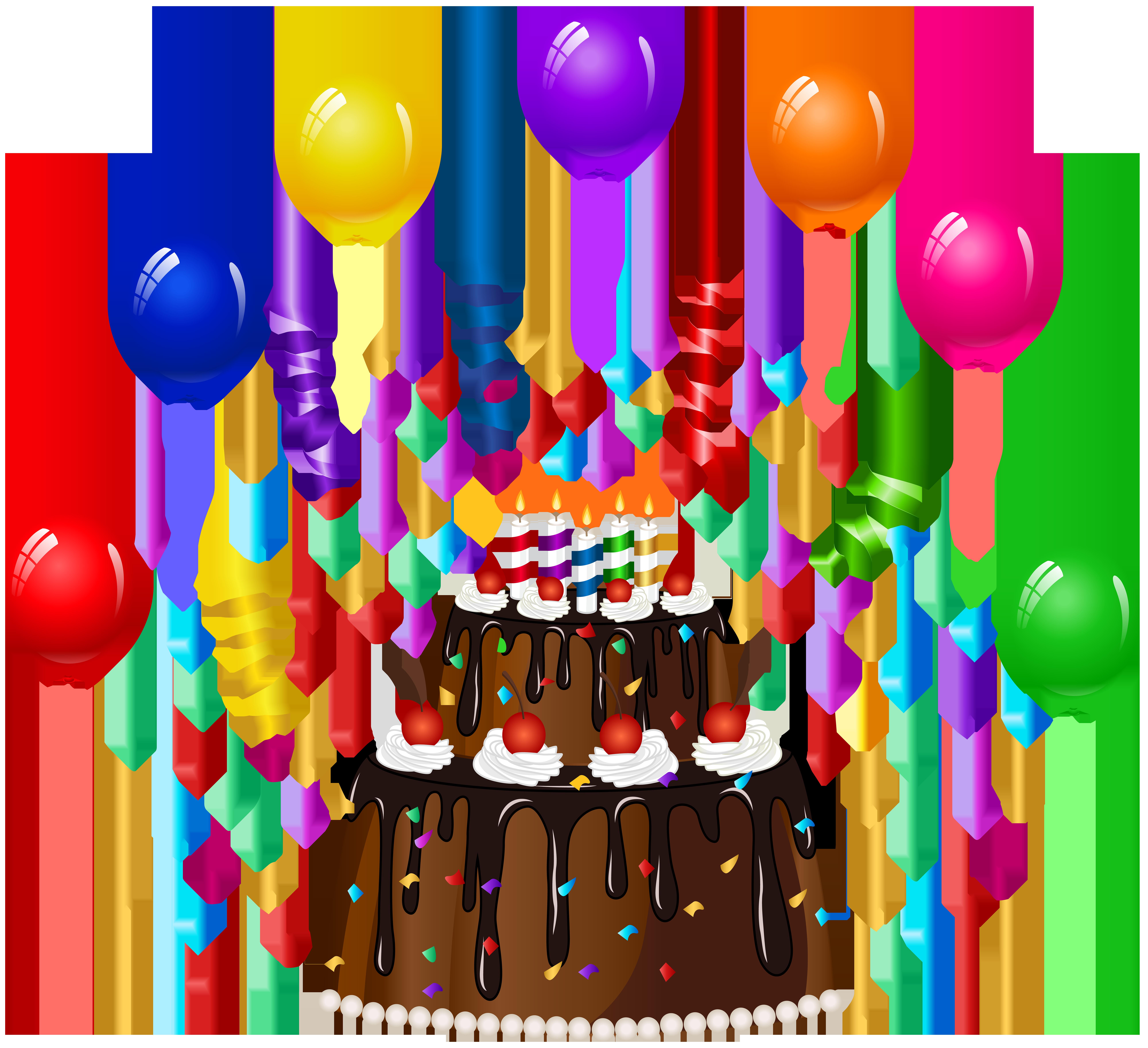 Birthday cake clip art. Clipart balloon cupcake