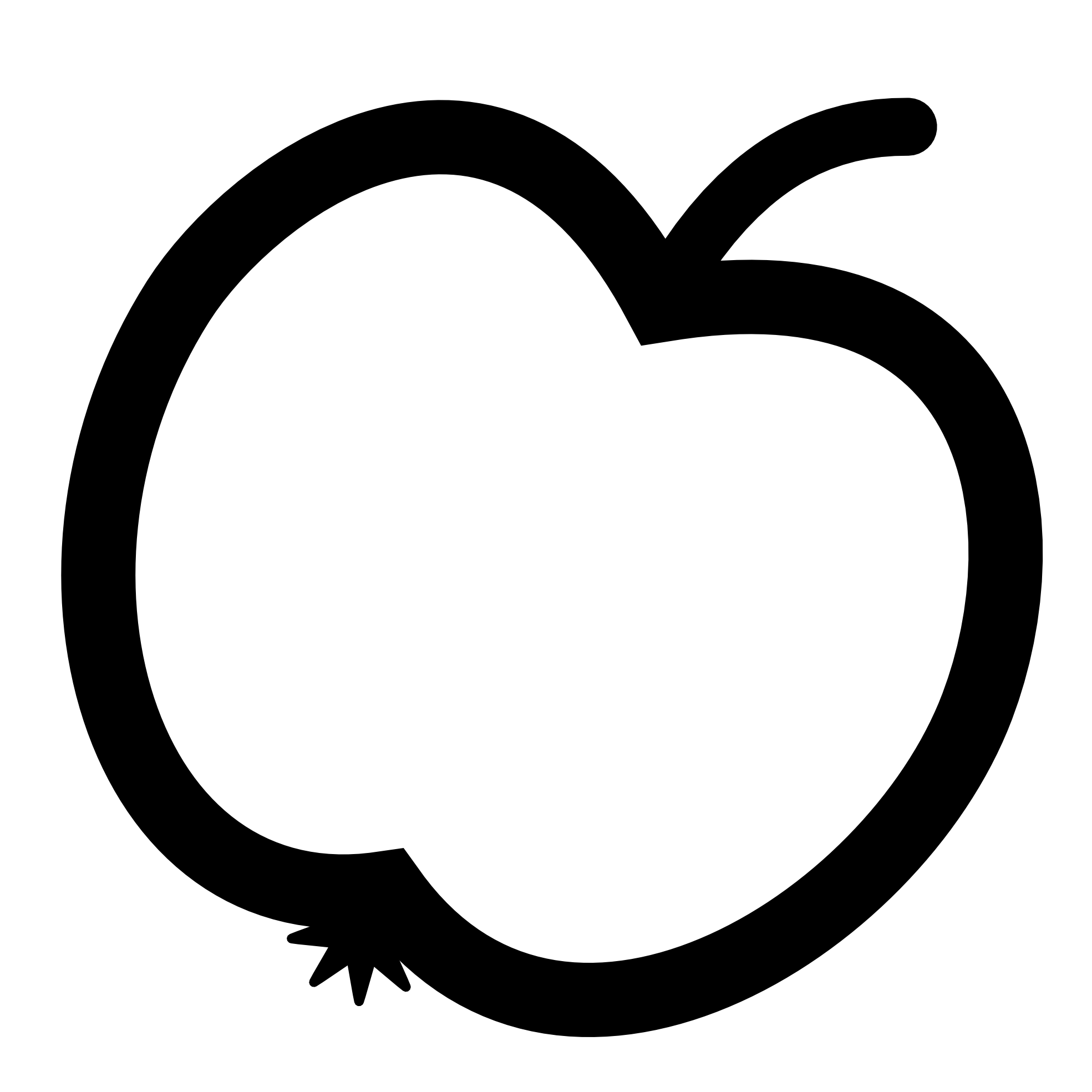 Apple black and white. Pear clipart roseapple