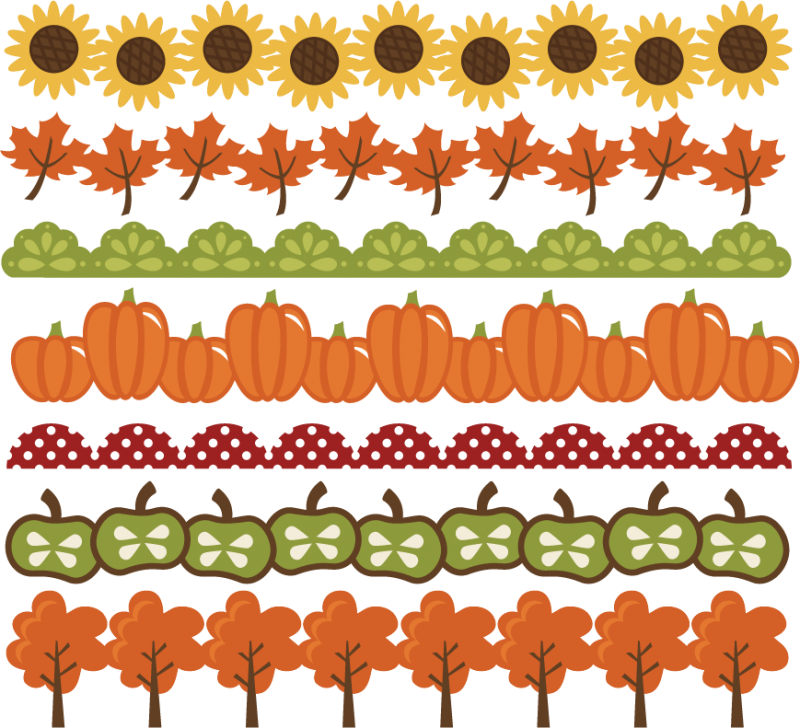 Planner clipart planning. Fall borders svg cut