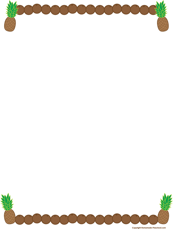 Preschool clipart border. Free fruit click to