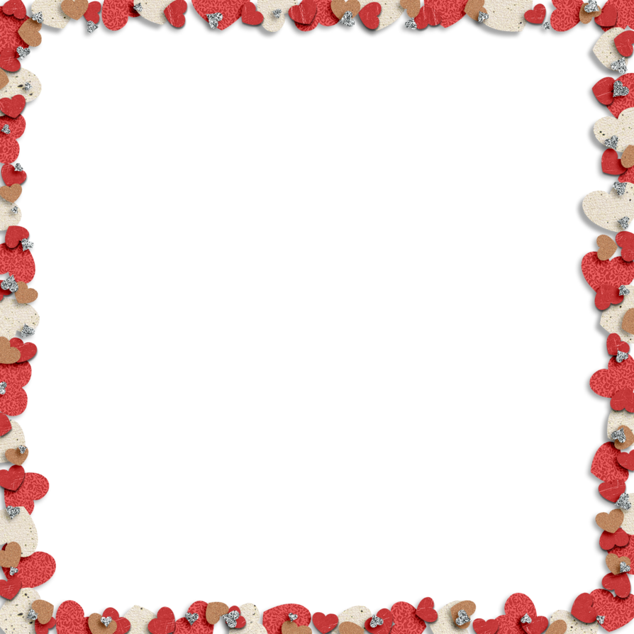 Heart border png. By hggraphicdesigns on deviantart