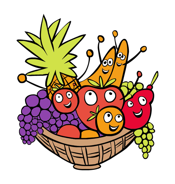 Fruit basket at getdrawings. Pineapple clipart atis
