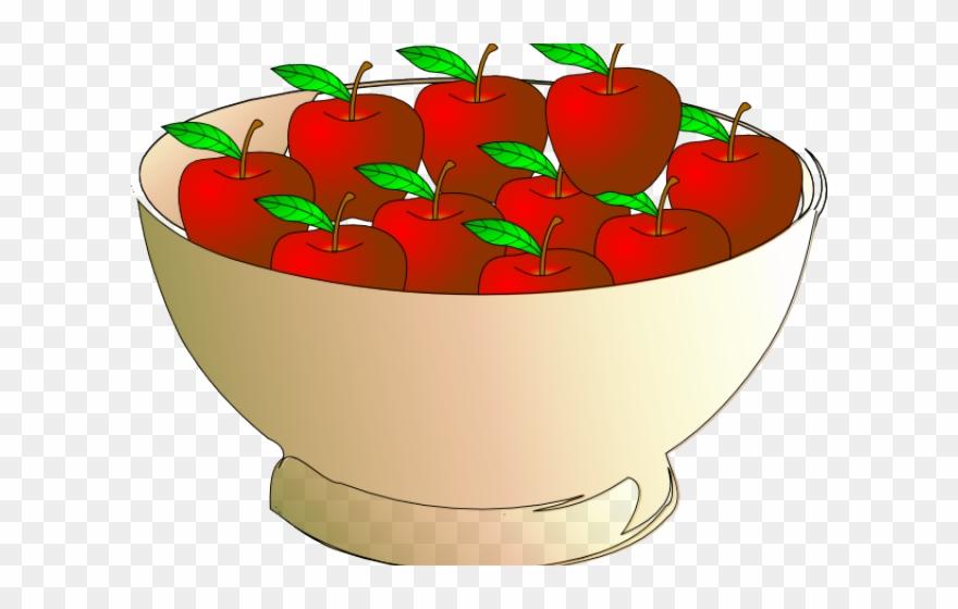 Apple bowl apples in. Strawberries clipart ten