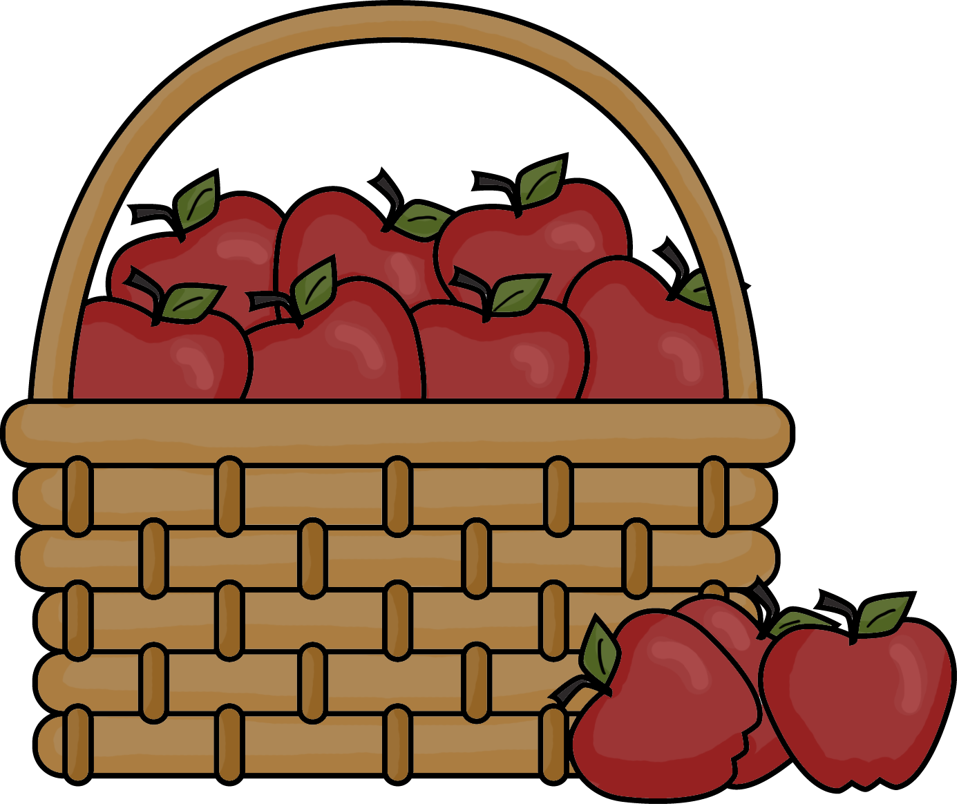 The of apples cartoon. Water clipart basket