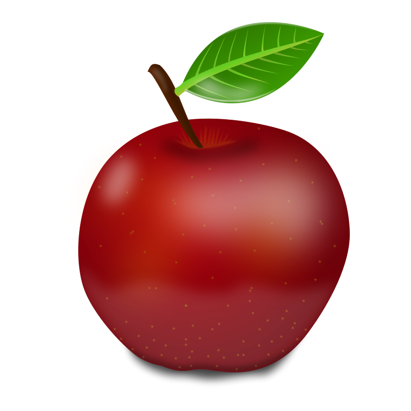 Health clipart healthy diet. Red apple free large
