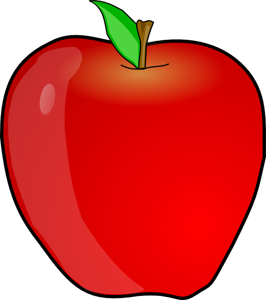 Another apple clip art. Fruits clipart smiley face