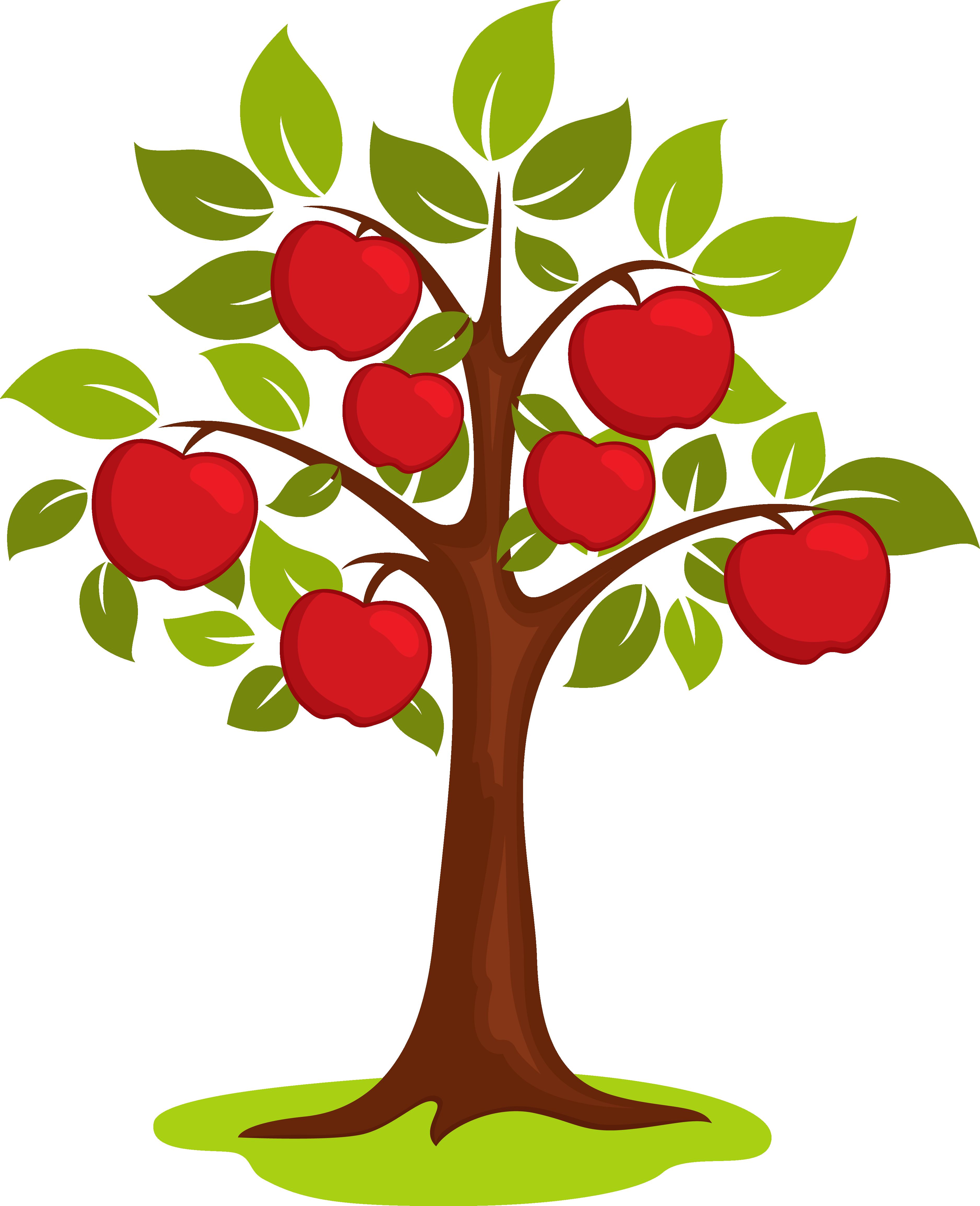 Cartoon clip art vector. Foods clipart tree