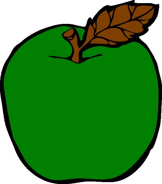 Clipart apple cartoon. Green clip art at