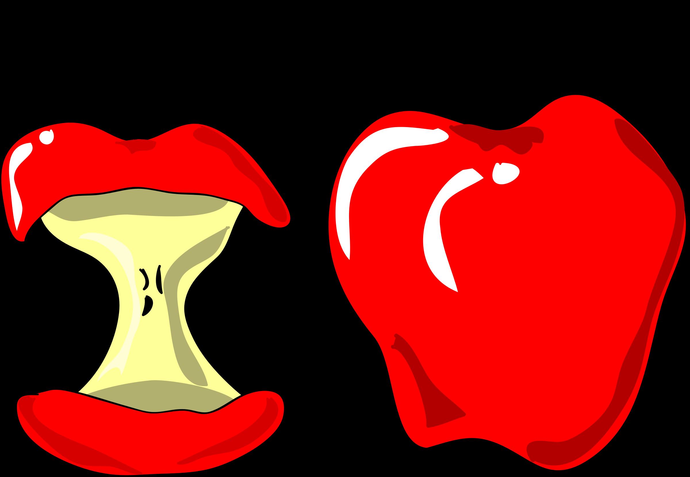 Clipart apple cartoon. Apples big image png